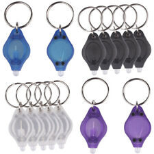 New Portable Mini LED Micro Light Keychain Squeeze Key Ring Lamp Torch Outdoor