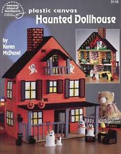 Haunted Dollhouse ~ Furnishings Ghost Family & More plastic canvas patterns Rare