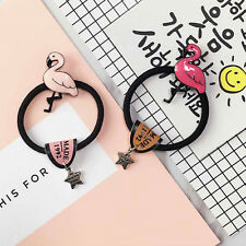 Flamingo Hair Rope Star Hair Ring Rubber Tied Head Elastic Bands Polytail Holder