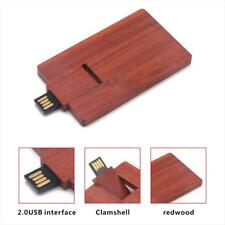 Wooden Card Shaped USB 2.0 Memory Stick Flash Pen Drive for Laptop PC