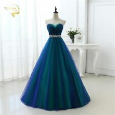 A Line Homecoming DressLong Prom Dresses 2017 Sweetheart Soft Tulle Party
