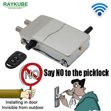 RAYKUBE Wireless Intelligent Remote Control Anti-theft Keyless Smart Door Lock