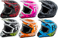 Fly Racing Youth Vis Yellow Kinetic Burnish Dirt Bike Helmet MX ATV Offroad 2018