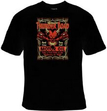 Mens T-Shirt Thunder Road Devil Pistons Motor Greaser Motorcycle Biker Sz S-3XL