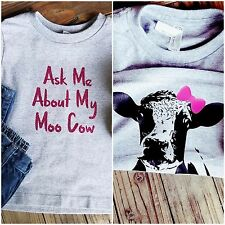 "Ask Me About My Moo Cow ""Molly Moo"" Toddler Girls T-Shirt"