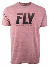 Fly Racing Mens Wine Red Logo Fade Casual T-Shirt