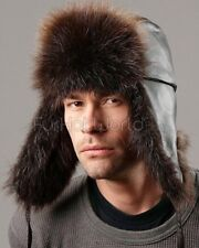 The Swiss Alps Beaver Fur Trapper Hat -Brand: frr -Made in Canada