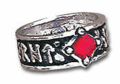 HOLY BLOOD RUNE English Pewter Ring by Alchemy Gothic