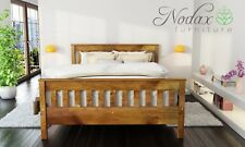 *NODAX* Wooden Pine King Size Bed 5ft Wooden Bed frame&Slats 'F16'