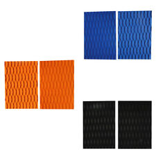 2Pcs Diamond Grooved EVA SUP Surfboard Tail Pad Traction Pad Deck Grip Mat Sheet
