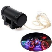 Waterproof LED Bicycle Spoke String Light Lamp 20 LEDs Cycling Wheel Rim Lights