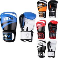 PU Leather Boxing Gloves Muay Thai Fight Sparring Training Punching Bag Mitts