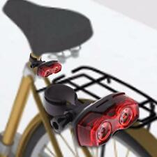 2 LED Bike Bicycle Rear Light Cycling Tail Light Safe Warning Light with Bracket