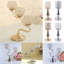 Crystal Votive Tealight Candle Holder Candlestick Wedding Party Centerpieces