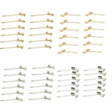 12pcs Cord Crimp Ends with Lobster Clasp and Extender Chain JEWELRY Findings