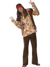 Men's 1960's Psychedelic Hippy Hippie 60's Peace Costume Fancy Dress - 01-34064