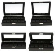 Exquisite and Durable Watch Box Black Carbon Fiber Style Display Unisex Box