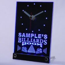 tncpj-tm Billiards Room Personalized Bar Beer Decor Neon Led Table Clock