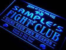 qj-tm Name Personalized Custom Fight Club Bring Your Weapon Bar Beer Neon Sign