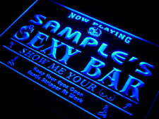 qk-tm Name Personalized Custom Sexy Bar Now Playing Stripper Bar Beer Neon Sign