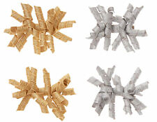 NWT Gymboree Gold Silver Curly Ribbon Girls Barettes Hair Clips Curlies Holiday