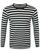 New Striped Black and White Long Sleeved T-Shirt