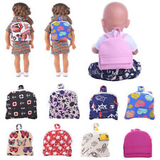 Dolls Schoolbag Backpack Accessories for 18'' Doll Baby Born Doll Bag Baby Toy