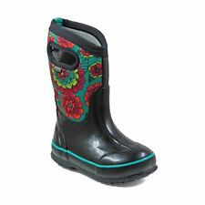 Bogs Kid's Classic Pansies Kids' Insulated Boots Black Multi 72158-009