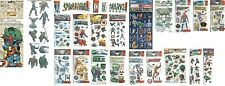 Marvel comic stickers PICK Spider-man Incredible Hulk Fantastic Four Wolverine