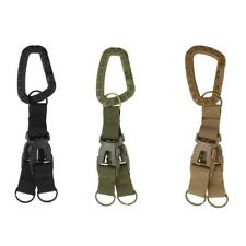 Outdoor Army Tactical Webbing Belt MOLLE Keychain Quick Release Buckle Key Ring
