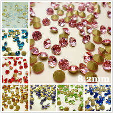 SS39 Rhinestones Point back 8.2mm Crystal Glass Chatons Strass Crystals 144ps