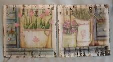BEAUTIFUL WOODEN FLORAL RUSTIC COUNTRY PRINTS *SHABBY CHIC* AGED EFFECT* NEW*