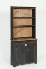 Primitive Rustic Country Wooden Small Hutch and Cabinet - Amish Made - 9 Colors