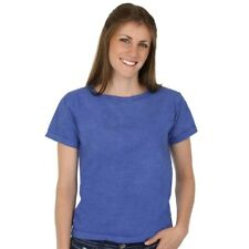 Sky Blue 100% Organic Cotton Scoop Neck Womens Tee Grown and Made in USA