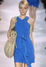 STELLA MCCARTNEY Blue Cotton Belted Tank Dress 38 2 or 42 6