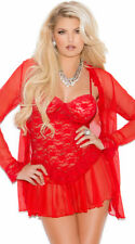 Womens Lace Chemise And Robe