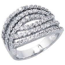 Women Silver Rhodium Plated, Cocktail CZ Ring Cocktail Cubic Zirconia Ring