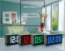 LED Digital Alarm Wall Table Desk Clock Thermometer Date Timer Snooze Countdown