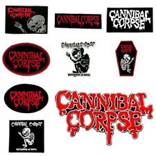 New Cannibal Corpse Band Patch Sew Iron On Embroidered Rock Music Death Metal