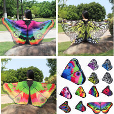 Girls Creative Wing Cape Scarf Shawl Neckerchief Colorful Butterfly Scarf