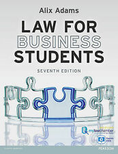 Law for Business Students premium pack by Alix Adams (Mixed media product, 2013)