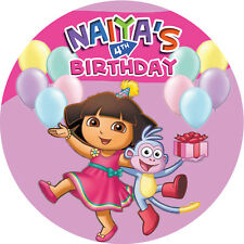 Dora the Explorer Personalised Edible REAL Icing Image Birthday Cake Toppers