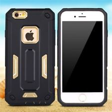 New Armor Hard Case Cover For Apple iPhone 6/6s + screen protector black/gold