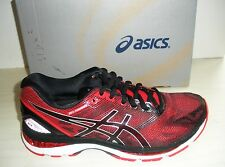 ASICS MENS NIMBUS 19 RUNNING SNEAKERS- SHOES- T700N-9023- BLACK/VERMILION- 8, 11