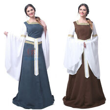 Medieval Renaissance Womens Bell Sleeve Celtic Queen Gown Dress Party Costume