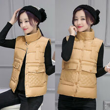 Women Padded Jacket Casual Sleeveless Quilted Padded Jacket Vest Parkas