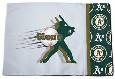 NEW Personalized MLB Oakland Athletics As Baseball Pillowcase Toddler, Standard