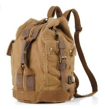 """Men's """"Colonial"""" Italian Style Convertable Backpack with Leather Straps - Khaki"""
