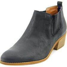 Tommy Hilfiger Ripley Women  Round Toe Leather Black Ankle Boot NWOB