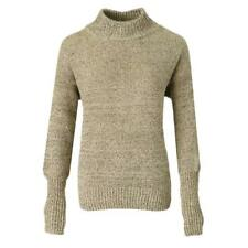 Women Ladies High Neck Long Sleeve Chunky Cable Knit Jumper Cashmere Sweater Top